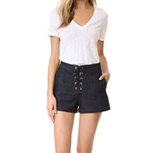 Rag & Bone Lace Up Jean Shorts in Resin